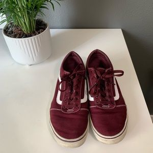 MAROON BURGUNDY RED VANS